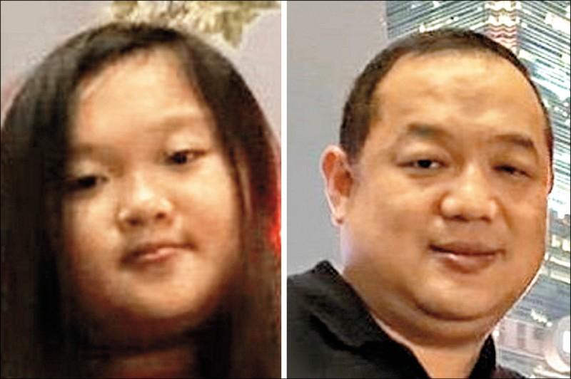 第1名凃忻岑(左)父女檔。(記者顏宏駿翻攝)