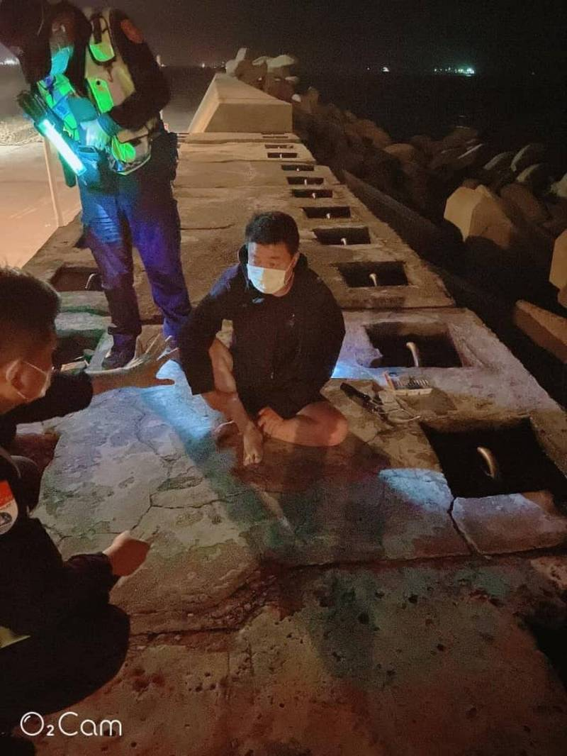 中國偷渡客(圖)來台被逮,專家細數多個「巧合」。(民眾提供)