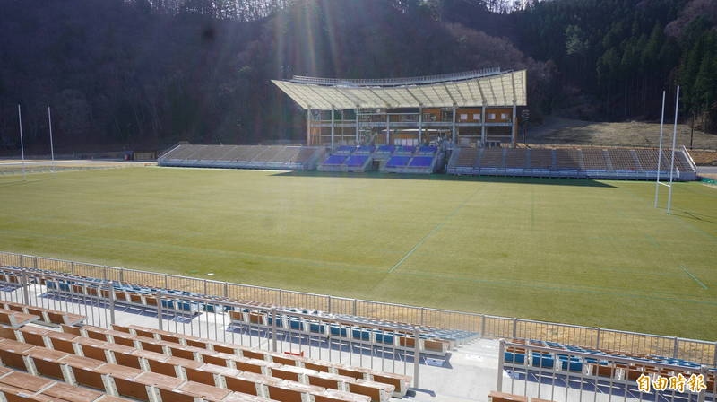 釜石鵜住居復興體育場在2019年曾舉辦世界杯橄欖球賽斐濟對烏拉圭賽。(記者林翠儀攝)