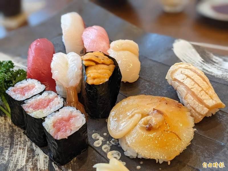 日本東北三陸海岸的新鮮海產。(記者林翠儀攝)