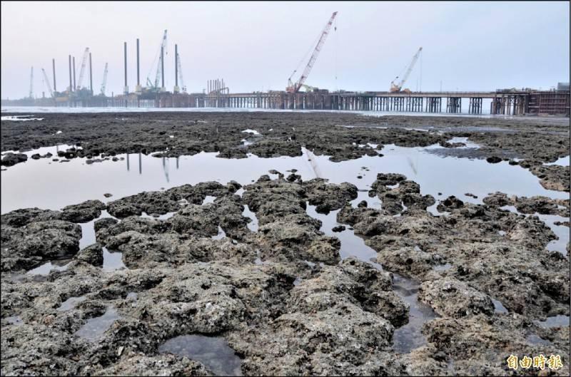 對於政院提出三接外推方案,部分環團人士表達支持,藻礁推動聯盟強調公投主文已成案,依法應該尊重。(資料照)