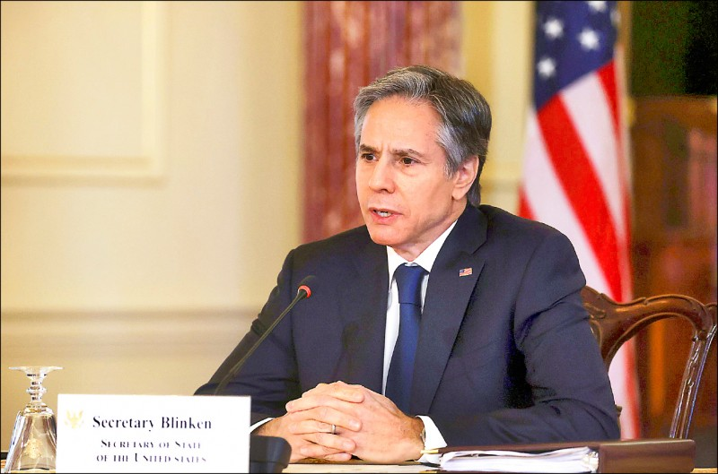 美國國務卿布林肯批評,中國近年對內加強打壓、對外更具侵略性,志在主導全球,但美國會為了維護既有國際秩序挺身而出。(路透檔案照)