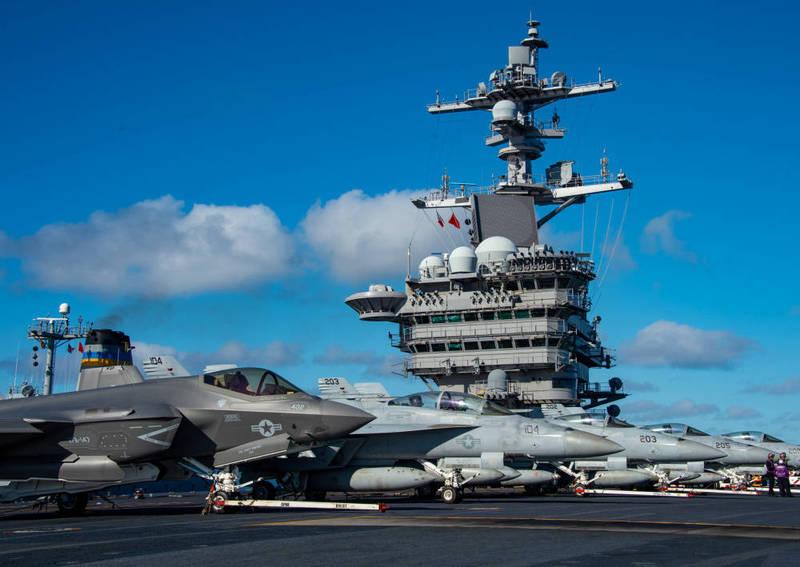 第2航艦航空聯隊除了擁有F-35C之外,也配有FA-18E/F戰機。(圖擷取自美國國防視覺資訊發布服務單位「DVIDS」)