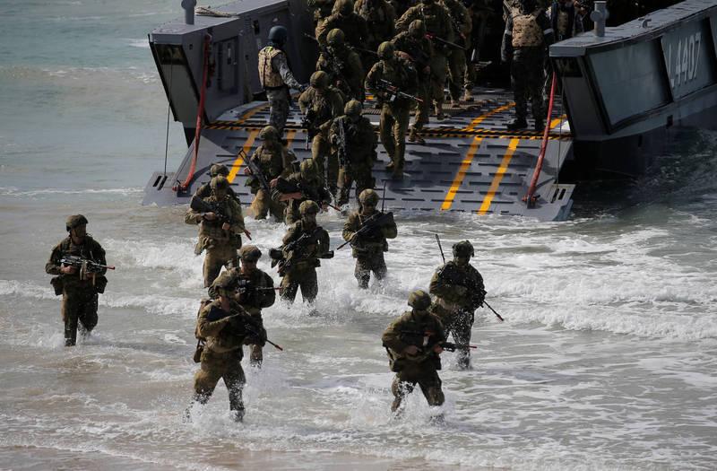 澳洲特種部隊指揮官芬德萊少將(Adam Findlay)去年4月表示,中國已經在進行處於灰色地帶的「政治作戰」行動,必須為這種可能演變成軍事衝突的行動做準備。(路透資料照)