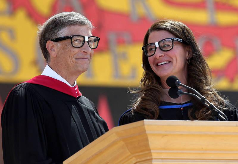 微軟創辦人比爾蓋茲與妻子梅琳達蓋茲宣布,結束2人長達27年的婚姻。(法新社資料照)