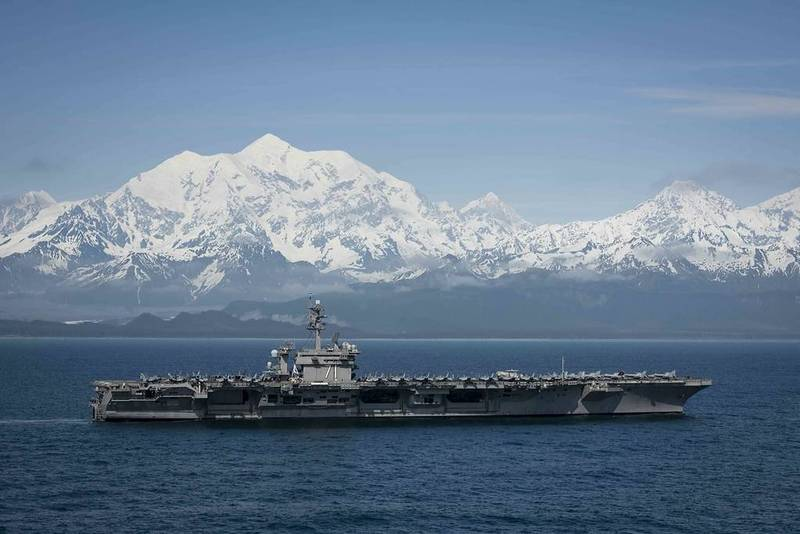 The US Indo-Pacific Command launched a large-scale military exercise on May 3. The picture shows the Roosevelt passing through the Gulf of Alaska after the 2019 exercise.  (The picture is taken from the official website of the US Pacific Fleet)