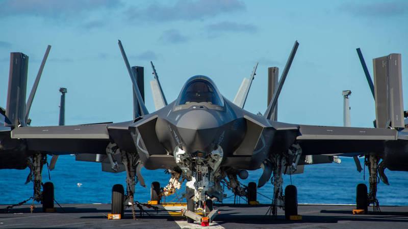 F-35C战机登上卡尔文森号,将首度参与海上巡弋任务。(图撷取自美国国防视觉资讯发布服务单位「DVIDS」)(photo:LTN)