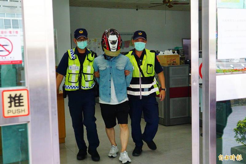 方男稱肇事前沒喝酒,被警方打臉。(記者何宗翰攝)
