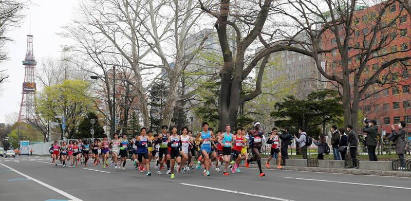 日本2020東京奧運會馬拉松測試賽今(5)日在札幌舉辦。(歐新社)