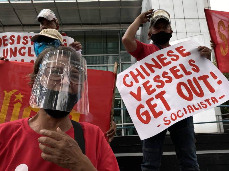 菲律賓與中國在南海爭議不斷。(歐新社)