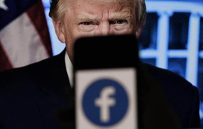 臉書監督委員會宣布支持臉書公司將美國前總統川普帳號停權的處分。(法新社)