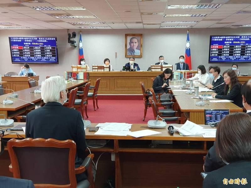 立法院司法法制、教育文化二委員會今初審通過「科技部組織法修正草案」。(記者謝君臨攝)