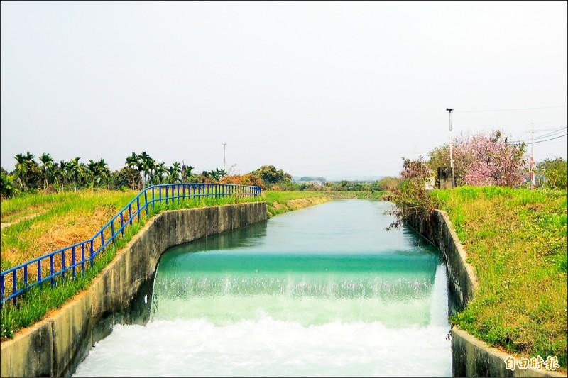 烏山頭水庫暨嘉南大圳灌溉系統為台灣世界遺產潛力點。(記者劉婉君攝)