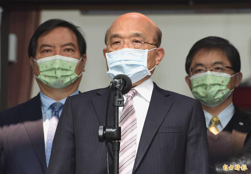 行政院長蘇貞昌主持院會,通過「食農教育法草案」,以全民力量挺台灣在地農業。(資料照)