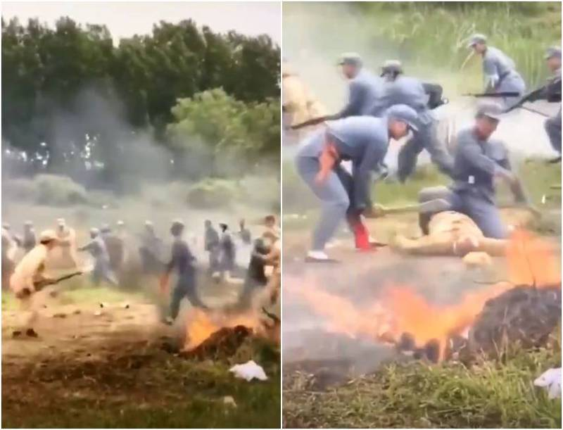 This video circulated in the WeChat group of China is said to be an official from the Nanyang Cultural, Broadcasting and Tourism Bureau of Henan Province who personally experienced the history of the Communist Army's Long March.  (The picture is taken from Cai Xia's Twitter)