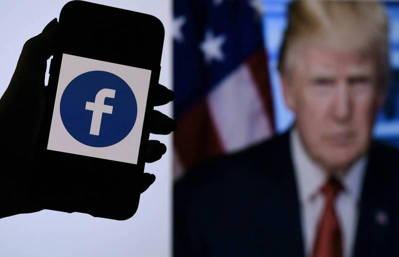 美國臉書公司獨立監督機構「監督委員會」(Oversight board)宣布,將繼續維持對川普的停權狀態。(法新社)