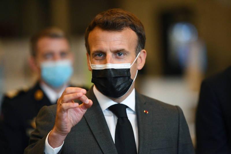 法國總統馬克宏今天表態支持豁免武肺疫苗專利。(法新社)