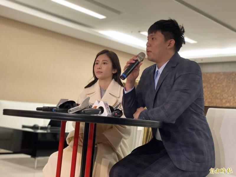 雞排妹「御用律師」王啓任(右)與賣淫集團合作,用仙人跳手法坑殺醫生、企業主逾千萬元。(資料照)