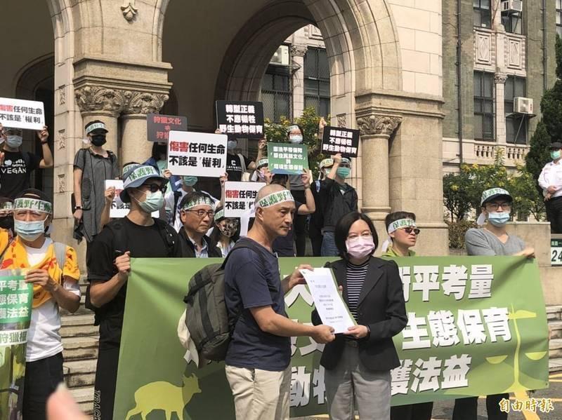 動保團體3月曾赴司法院陳情,希望大法官能衡量生態,對於王光祿釋憲案審慎考量。(資料照)