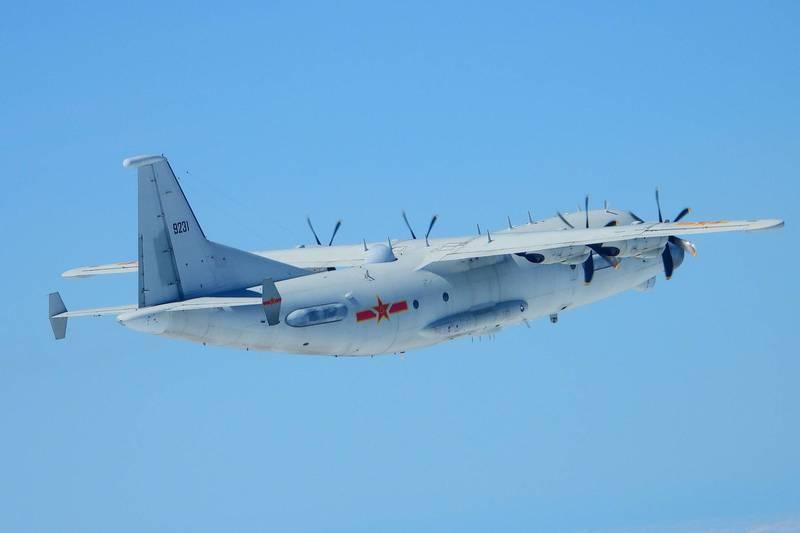 共機今天三度襲擾我國西南空域,被我國空軍廣播驅離。(示意圖,國防部提供)