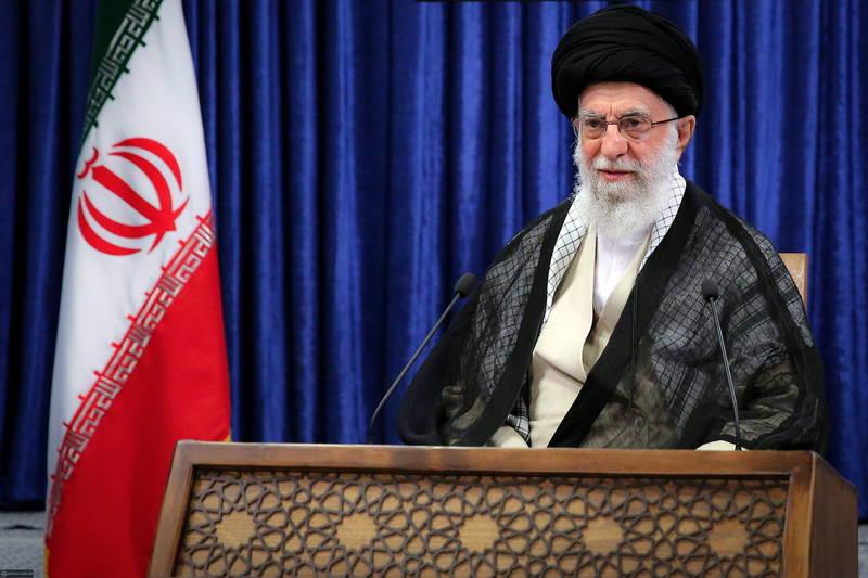 伊朗最高領導人哈米尼今日呼籲伊斯蘭國家應團結對抗以色列。(路透)