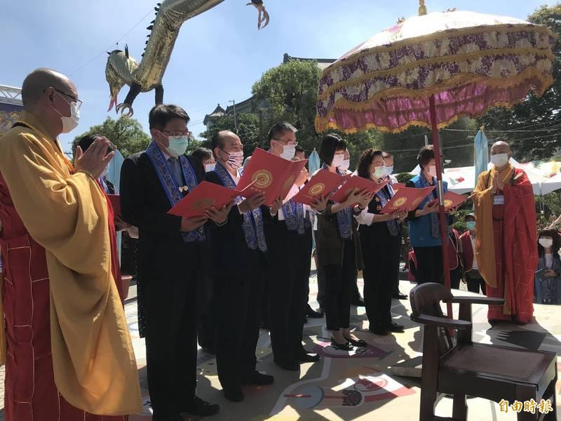 「萬緣護國息災祈福大法會」在潮州妙光禪寺盛大舉辦。(記者陳彥廷攝)