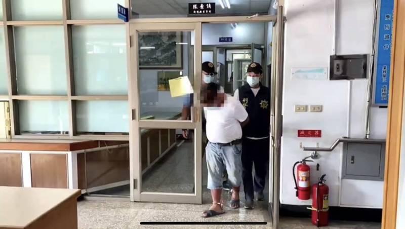 鳳梨大盜林嫌被羈押。(警方提供)