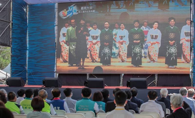 嘉南大圳開工100年的紀念活動,今天在台南烏山頭舉行。(圖取自蔡英文臉書)