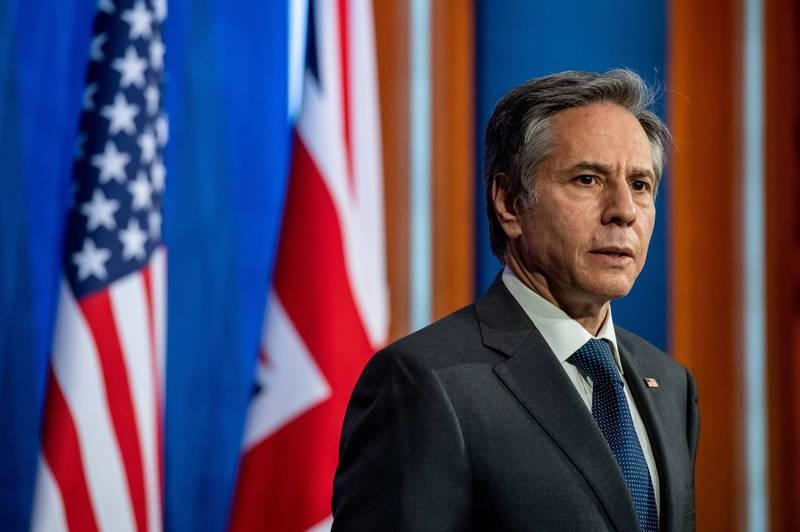 美國國務卿布林肯(Antony Blinken)7日發表聲明,呼籲世界衛生組織(WHO)恢復台灣在WHA的適當地位。(路透資料照)