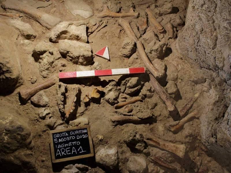 羅馬東南方一處洞穴出土9具尼安德塔人骨骸。(路透)