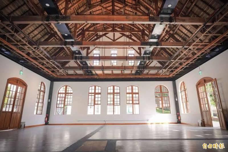 新竹中學劍道館已經修復完工。(記者蔡彰盛攝)