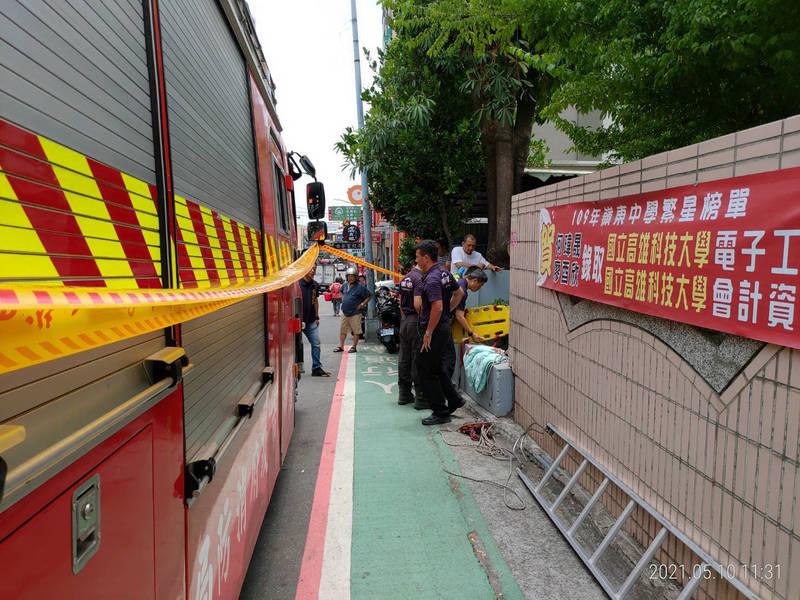 消防人員到場協助搜尋。(記者許國楨翻攝)