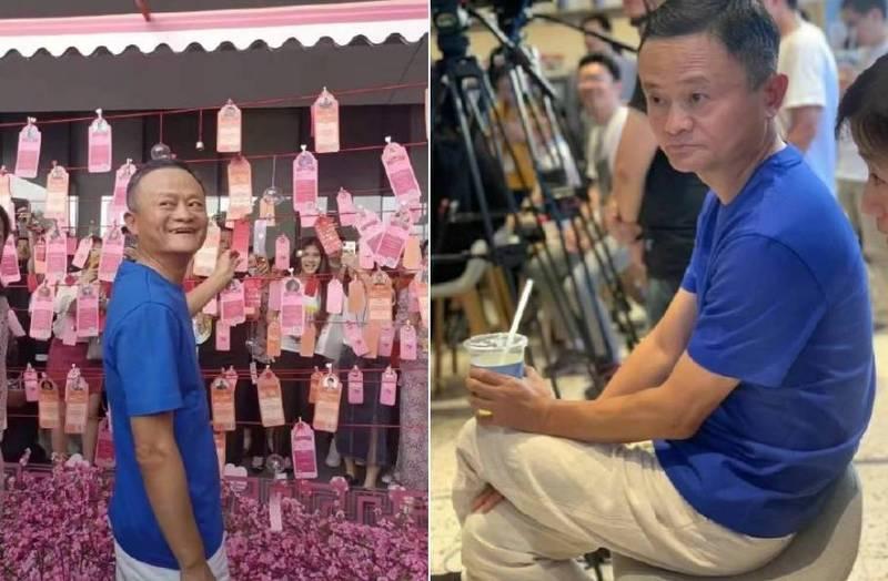 今日馬雲出席阿里巴巴5月10日「阿里日」活動,久違地公開露面,卻被中國網友發現冒出白髮,皺紋也明顯變多,幾個月不見卻蒼老許多。(擷取自微博)