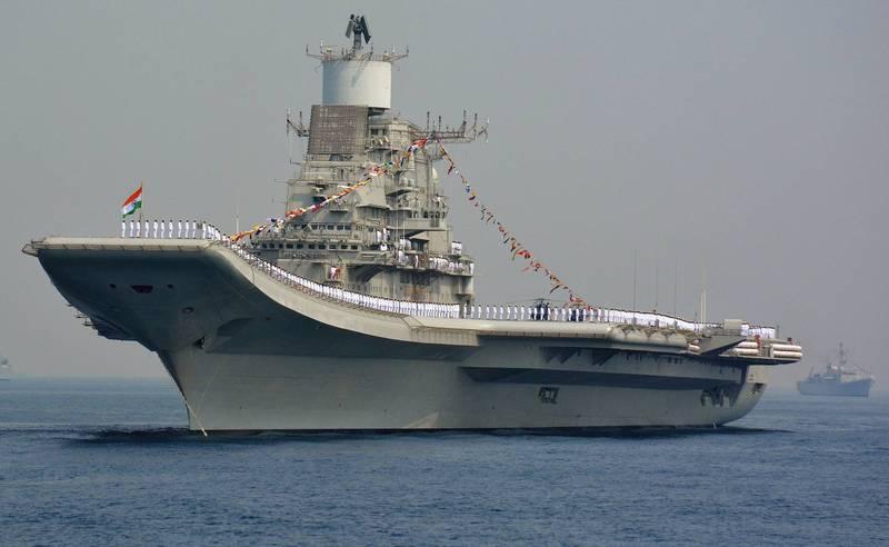 印度航母「超日王號(INS Vikramaditya)」於當地時間8日發生一起火災,所幸沒有造成人員傷亡。(法新社)