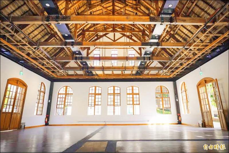 新竹中學劍道館已經修復完工。 (記者蔡彰盛攝)