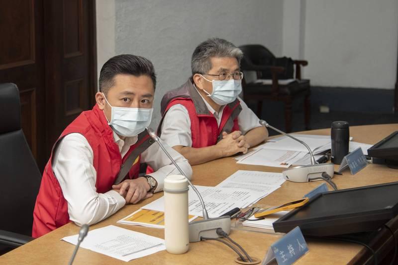新竹市府再次舉行抗旱會議,由市長林智堅主持。(市府提供)