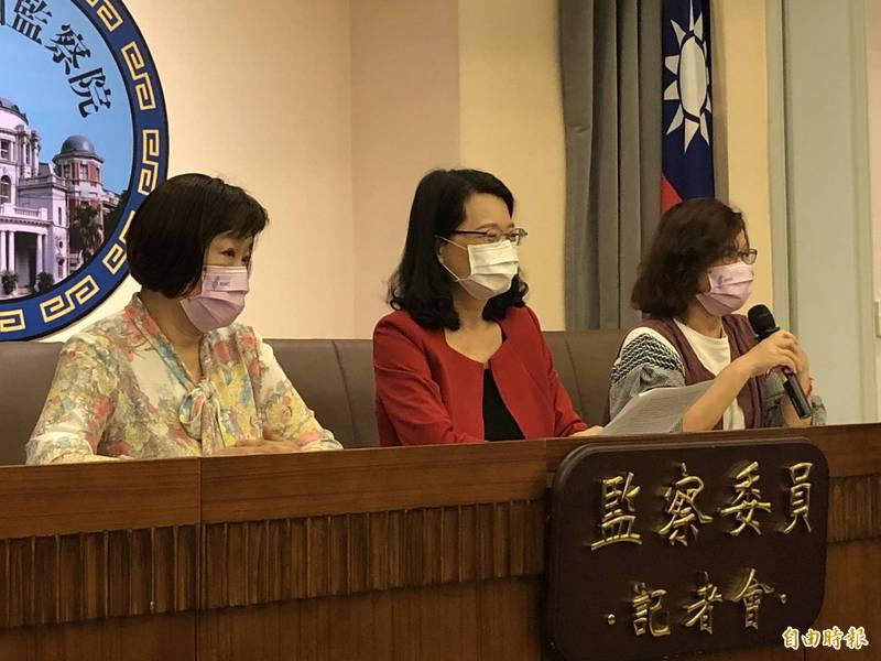 監委紀惠容(左起)、王美玉、王幼玲。(記者謝君臨攝)