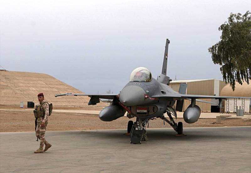 美國國防承包商洛克希德.馬丁昨日表示,因為安全考量,目前正在將駐紮在伊拉克軍事基地的F-16戰機維修團隊撤出。(美聯社)