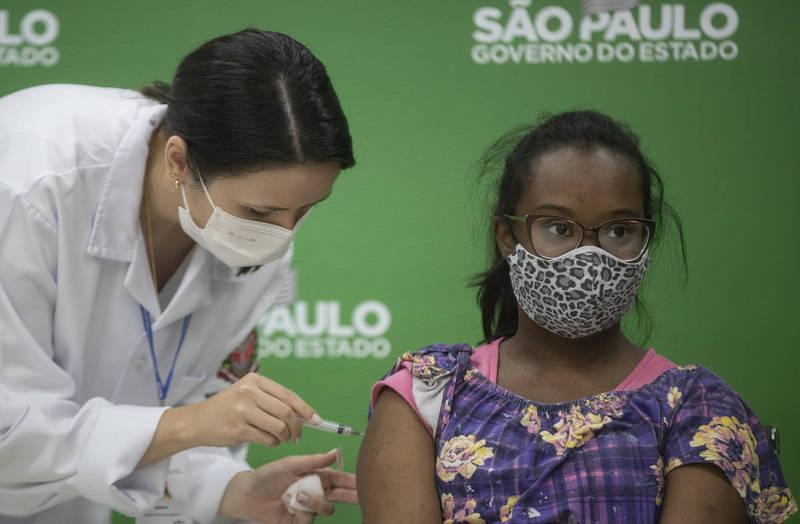 巴西里約熱內盧州、聖保羅州宣佈孕婦暫停孕婦的AZ疫苗接種。示意圖。(美聯社)