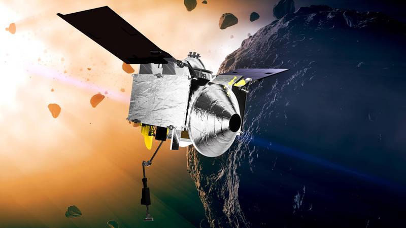 NASA探測器「歐塞瑞斯號」正帶著小行星樣本返回地球。(美聯社)