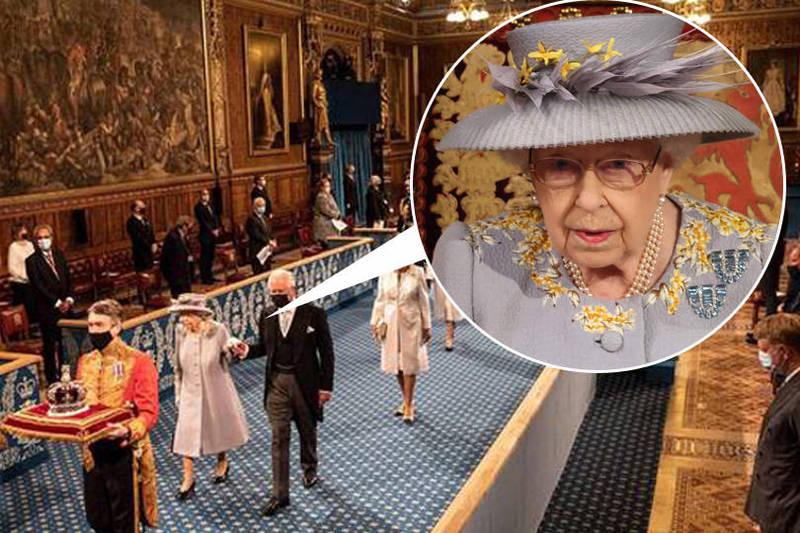 伊莉莎白二世在演說中談到,她希望國會在明年能通過就業、健保等方面的法律,並擺脫後脫歐時代的官僚作風。(本報合成)