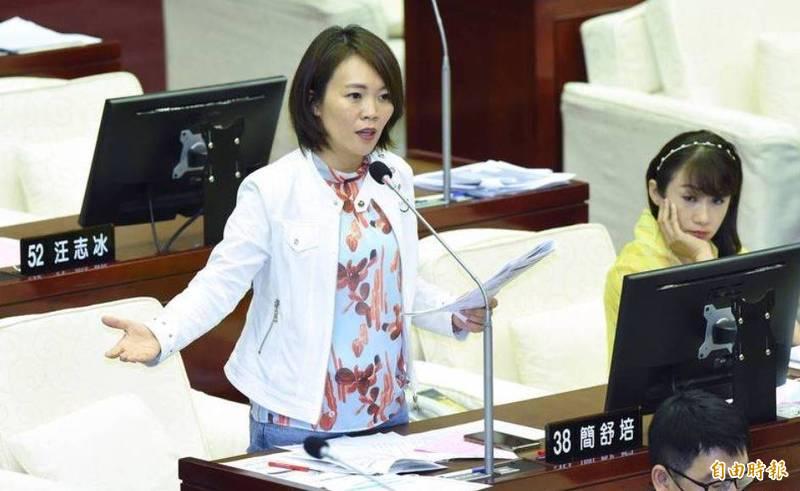 民進黨發言人、台北市議員簡舒培反擊趙少康。(資料照)