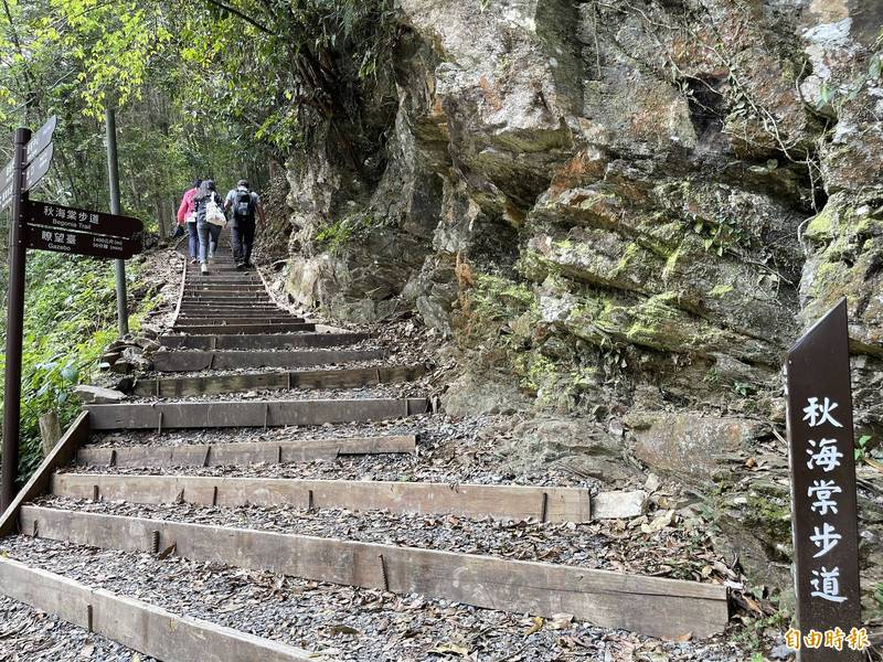 因防疫升級,造成藤枝國家森林遊樂區預約入園的部分遊客臨時取消,預約網站會隨時釋出餘額。(記者許麗娟攝)