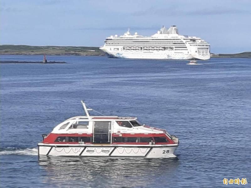 探逤夢號跳島遊受疫情升級影響,宣佈停航至六月八日。(記者劉禹慶攝)