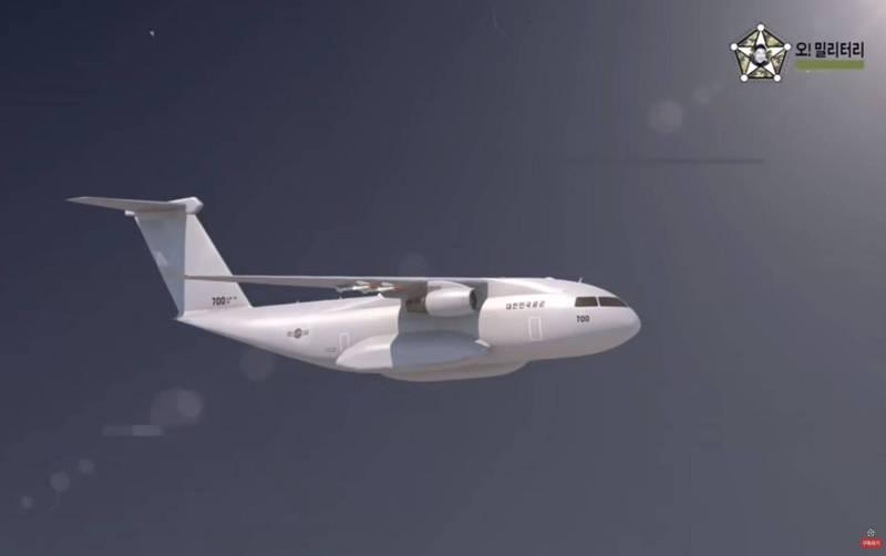 南韓航太國防公司「韓國航空宇宙產業」(KAI)公布影片,曝光了下一代軍用運輸機的設計建議。(翻攝自YouTube)
