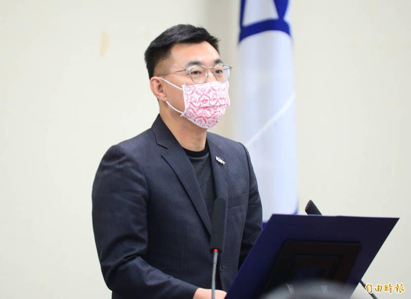 因應國內新冠肺炎疫情升溫,國民黨主席江啟臣今日主持中常會發表談話時,宣布暫緩辦理既定的公投宣講、集會活動。(資料照)