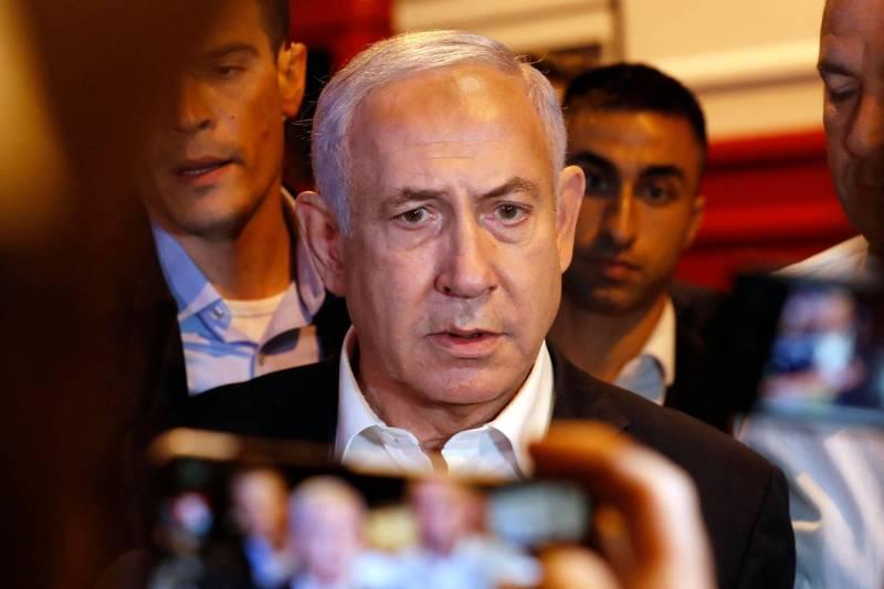 以色列總理納坦雅胡(見圖)。(法新社)