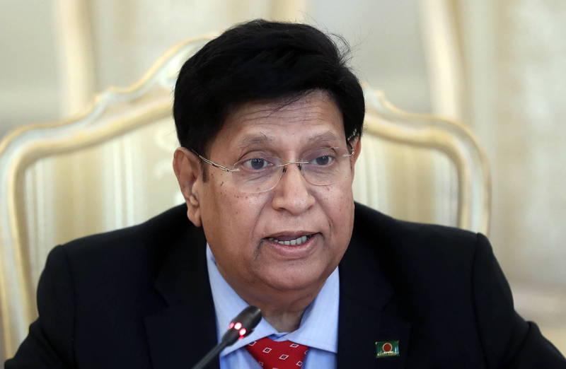 孟加拉外交部長摩門(A.K. Abdul Momen)說,孟加拉是獨立主權國家,外交政策不需要別國干涉。(歐新社資料照)
