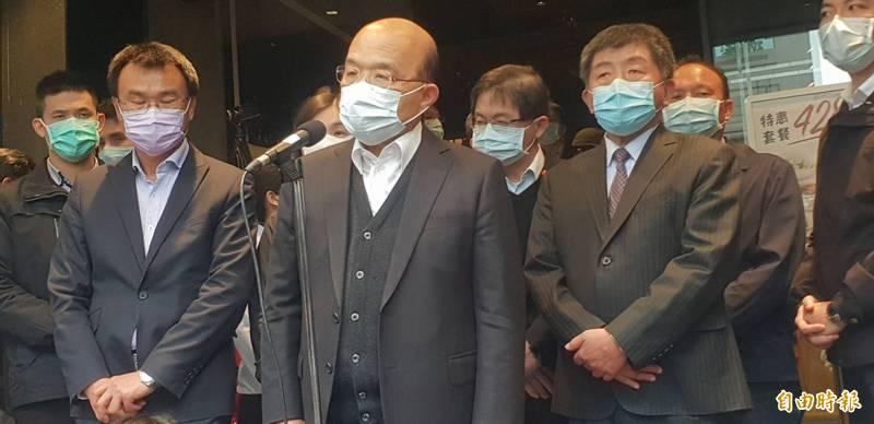 本土病例暴增,行政院長蘇貞昌正主持院會,擴大會商六部會因應策略。(資料照)