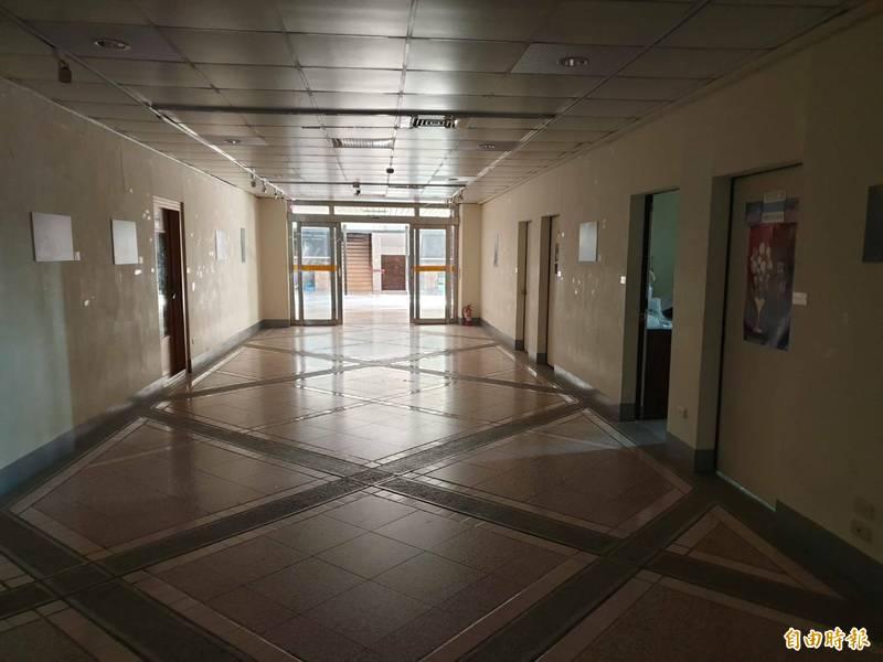 靜宜大學校內大停電。(記者張軒哲攝)